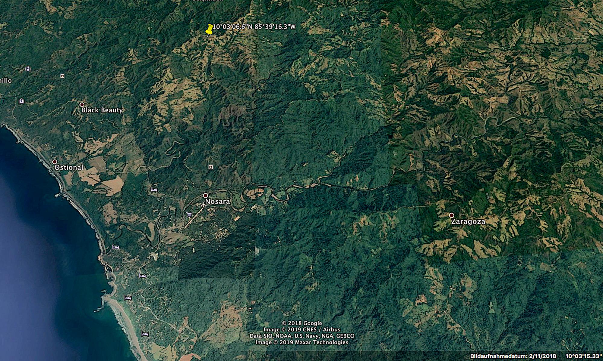 Costa Rica Grundstück mit Meersicht